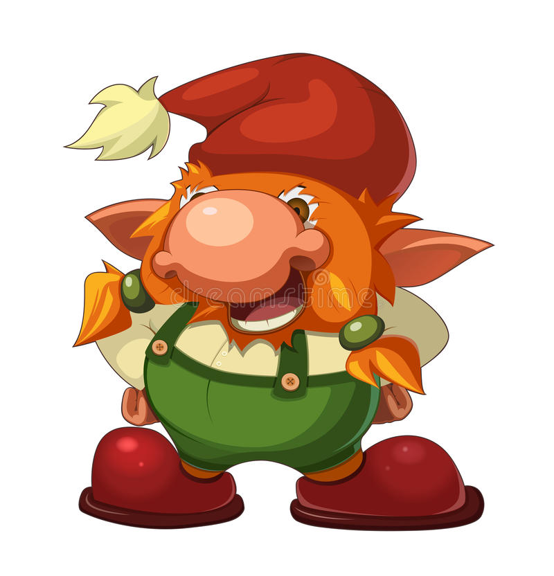 Download Gammal gladlynt gnome vektor illustrationer. Bild av roligt - 23524246