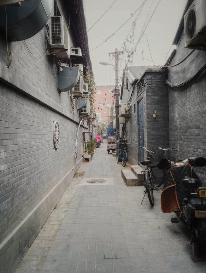 Gammal grändgata för Peking royaltyfri fotografi