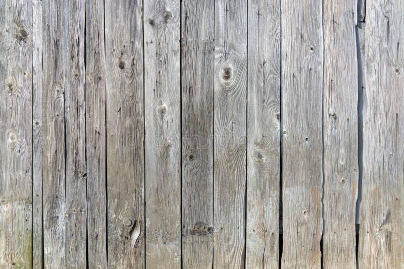 Gammal grå färgbrädevägg arkivbilder