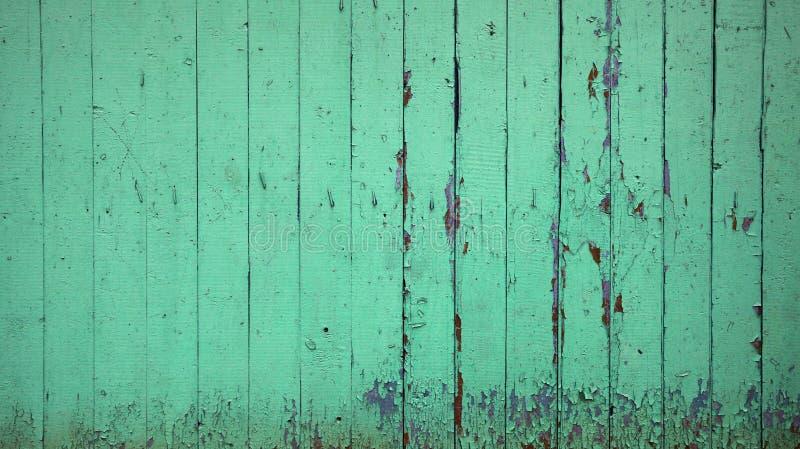 Gammal grön träväggbakgrund texturerar arkivfoton