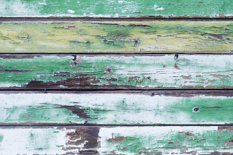 Gammal grön wood plankabakgrund fotografering för bildbyråer