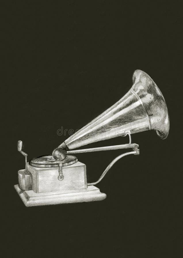 gammal grammofon arkivfoto