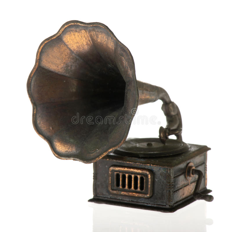 gammal grammophone royaltyfria bilder