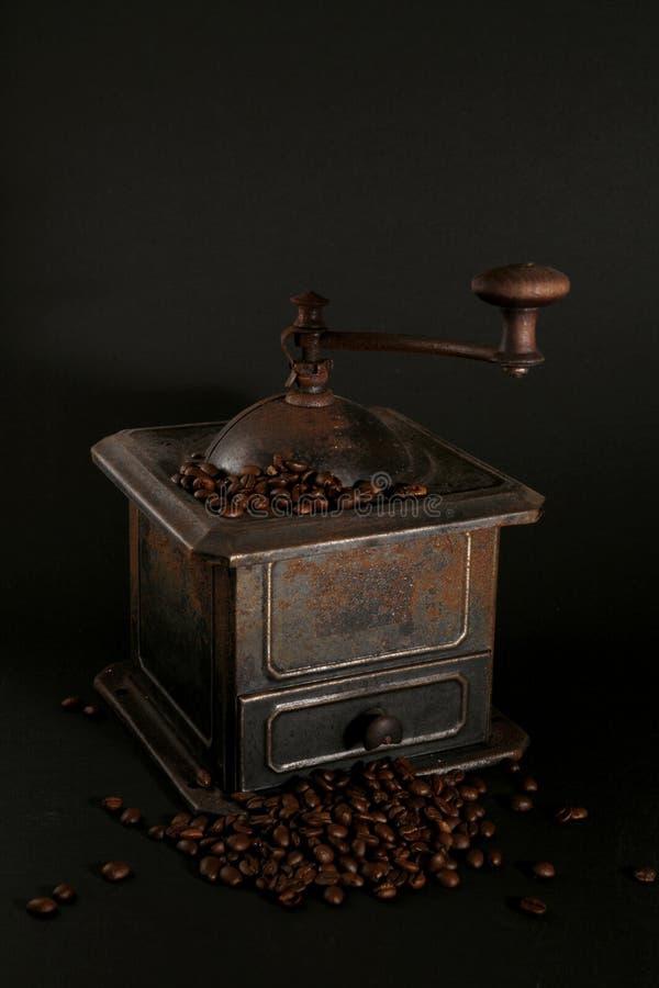 gammal grinder för svart kaffe royaltyfri foto
