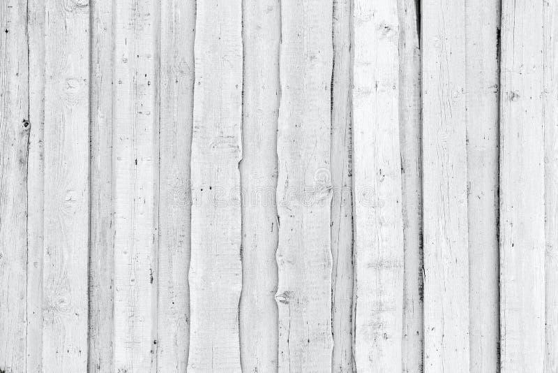 Gammal grov vit trävägg, bakgrundstextur royaltyfri fotografi