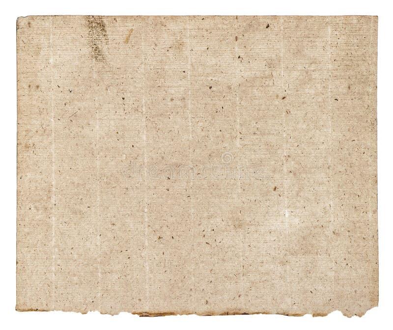 Gammal grunge texturerade det pappers- arket royaltyfria foton