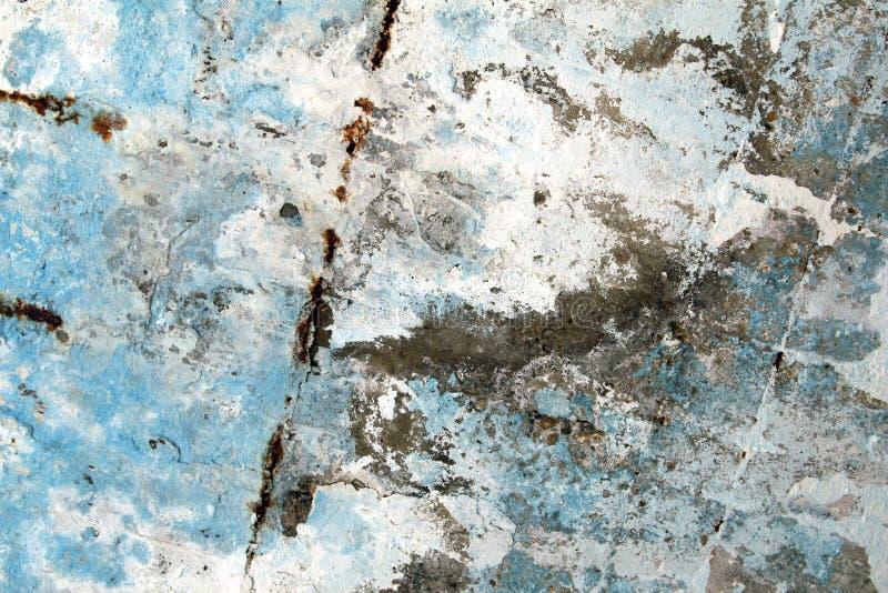 Gammal grunge texturerar bakgrunder med vita och blåa färger Gery Wall Background arkivbild