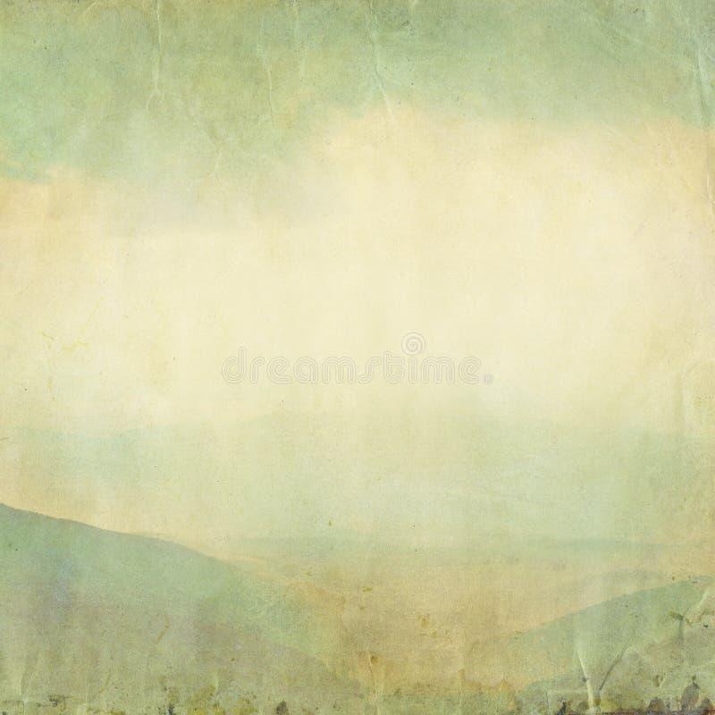 Gammal grungepappersbakgrund med fotografering för bildbyråer