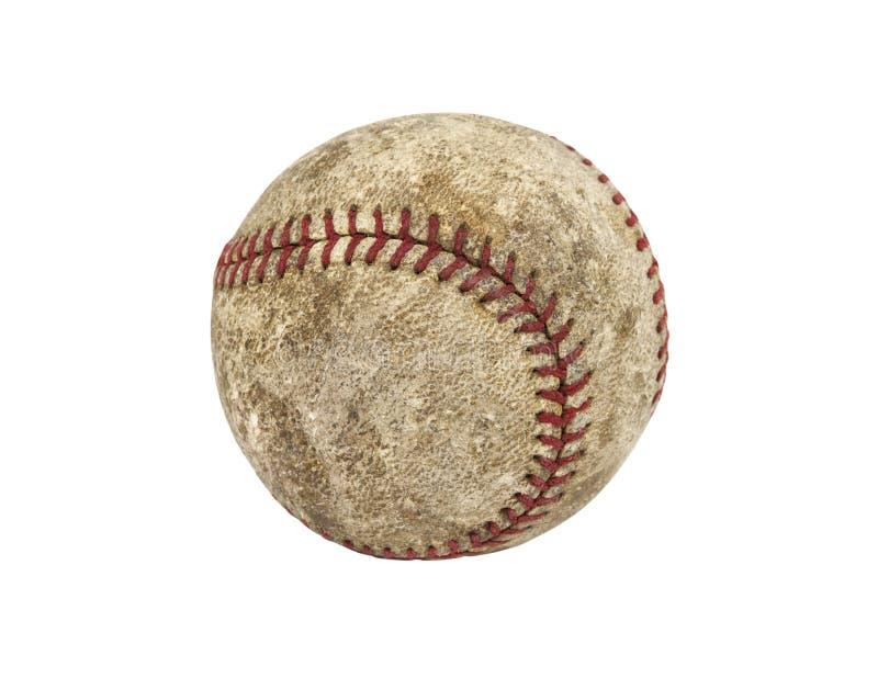 Gammal Grungy baseball royaltyfria foton