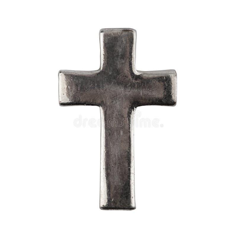 gammal grungy metall för kors arkivbild