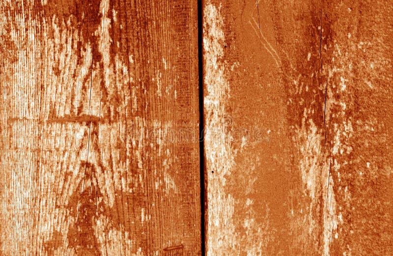 Gammal grungy träplankabakgrund i orange signal royaltyfri illustrationer