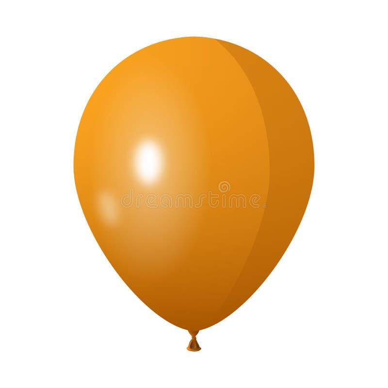 Gammal gul ballong i vit isolerad bakgrund vektor illustrationer