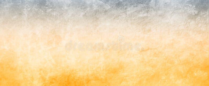Gammal guld och svart bakgrundsillustration med urblekt grungetextur stock illustrationer