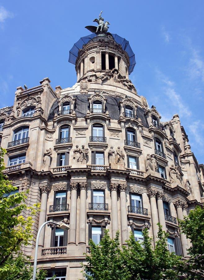 Gammal härlig arkitektur i Barcelona arkivfoto