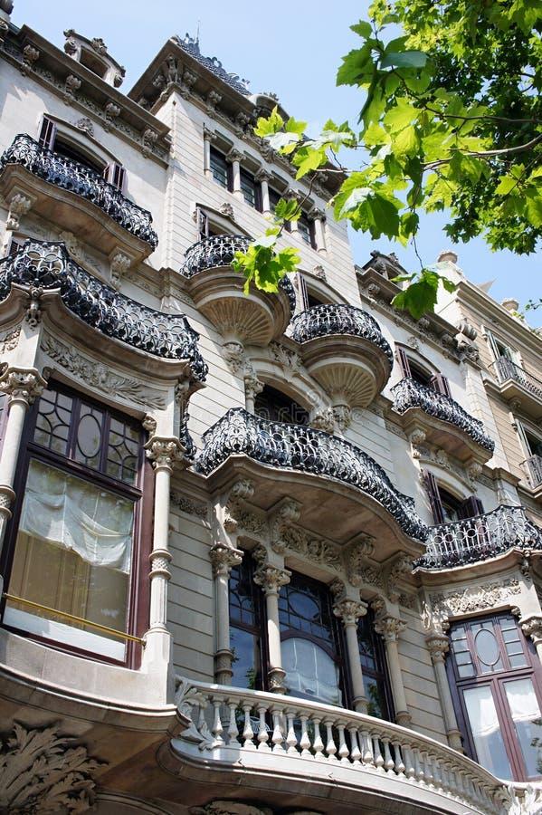 Gammal härlig arkitektur i Barcelona arkivfoton