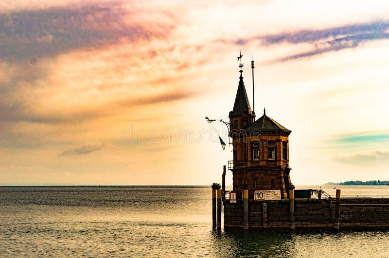Gammal hamn i Konstanz arkivbilder