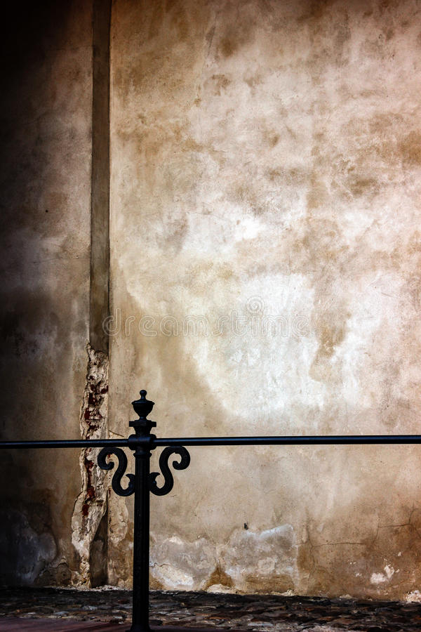 gammal handrail arkivbilder