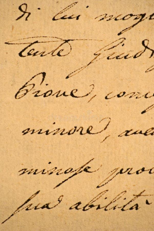 gammal handskriven bokstav royaltyfria foton