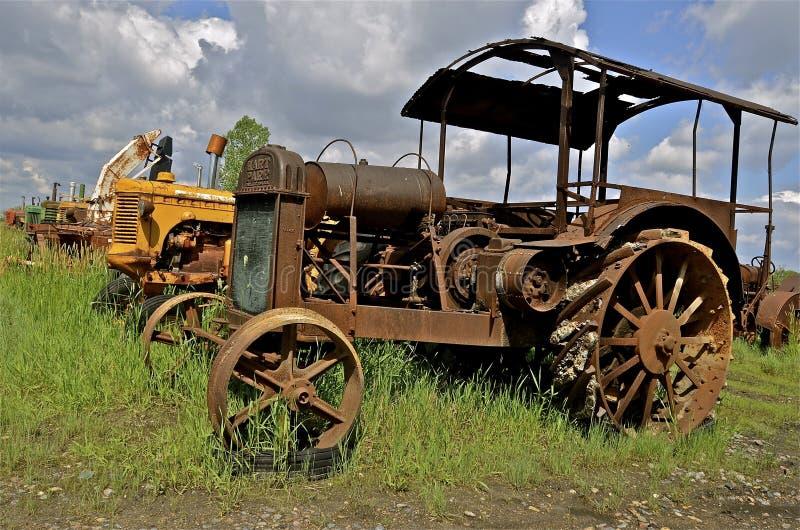 Gammal Hart Parr rostig traktor royaltyfria bilder