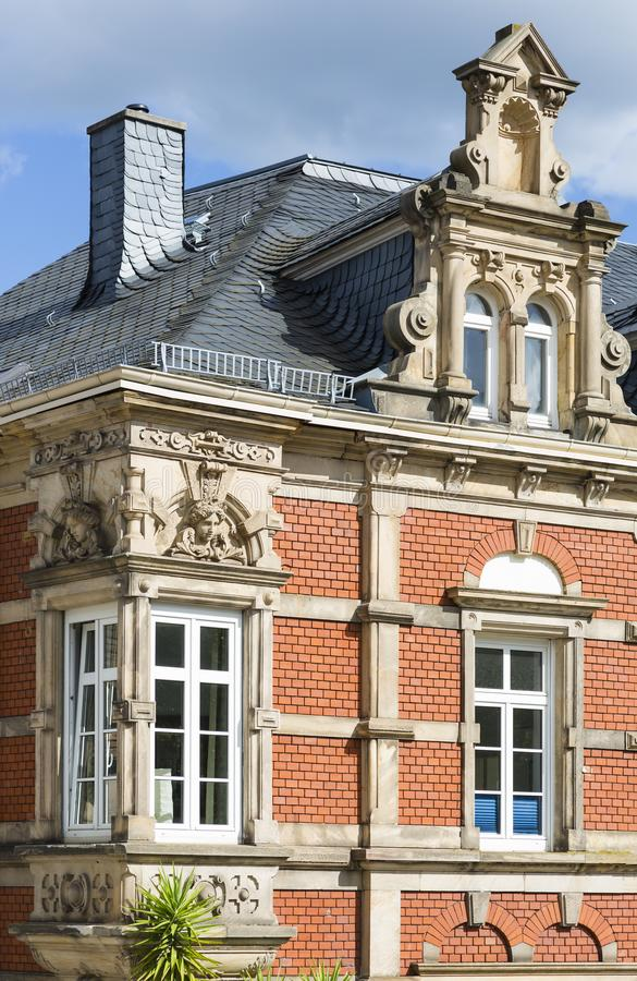 Gammal herrgård i Neustadt en der Weinstrasse, Tyskland royaltyfria foton
