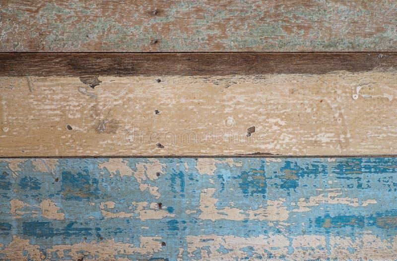 Gammal horisontalwood plankatexturbakgrund royaltyfri foto