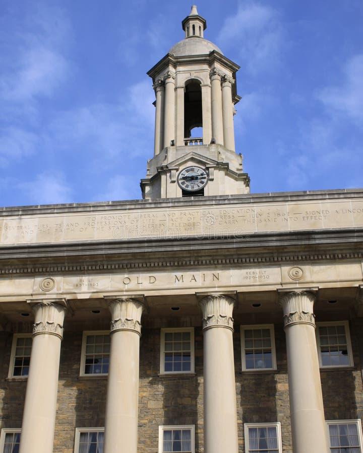 Gammal huvudbyggnad, universitetsområde av det Penn tillståndet arkivbild