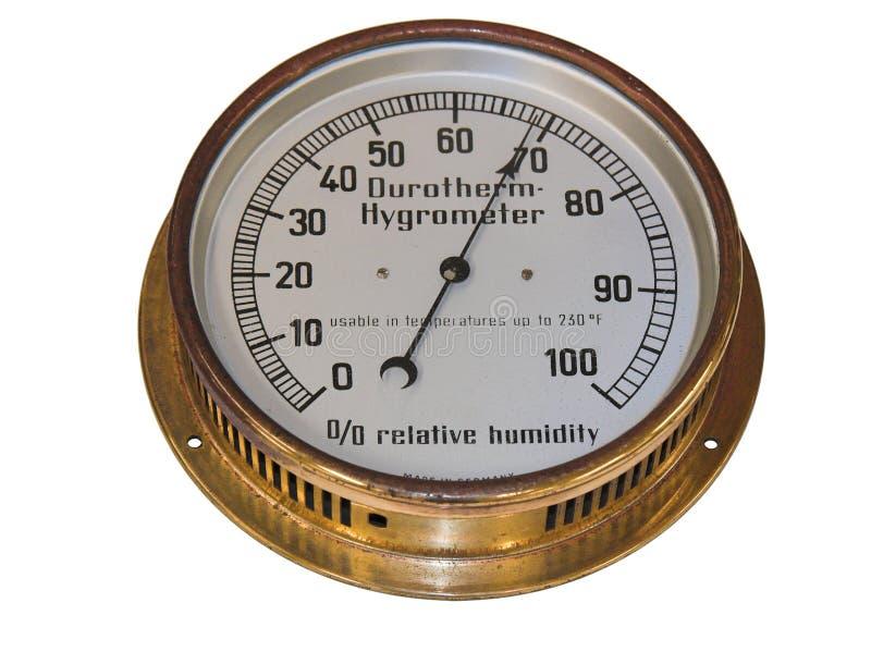 gammal hygrometer arkivbild