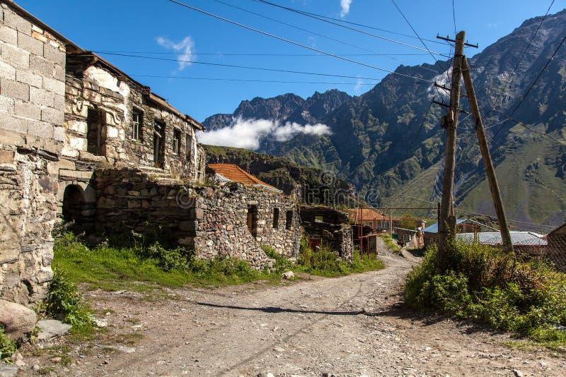 Gammal by i bergen av Georgia fotografering för bildbyråer