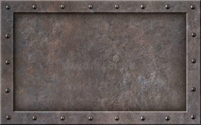 Gammal illustration för ram 3d för metallångapunkrock royaltyfria bilder