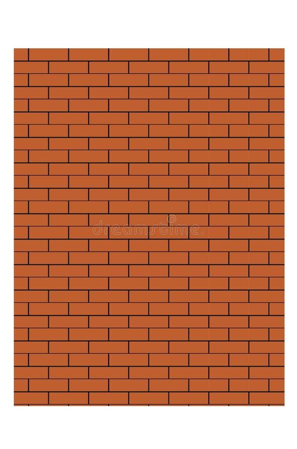 Gammal illustration för vektor för bakgrund för textur för vägg för röd tegelsten stock illustrationer