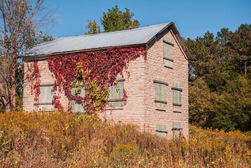 Gammal Iowa hemman fotografering för bildbyråer
