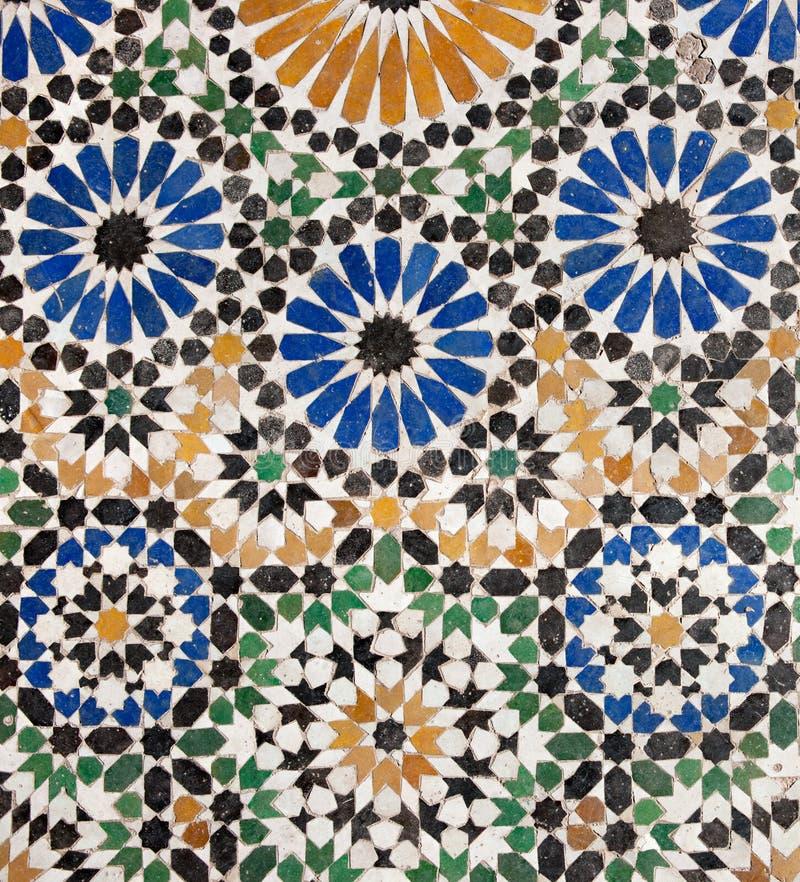 gammal islamisk mosaik royaltyfri bild