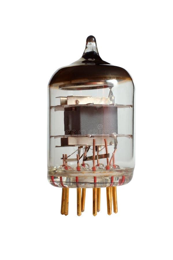 Gammal isoalated radiolampa - royaltyfri fotografi