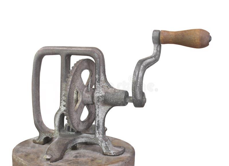 Gammal isolerade vev och kugghjul. arkivfoto