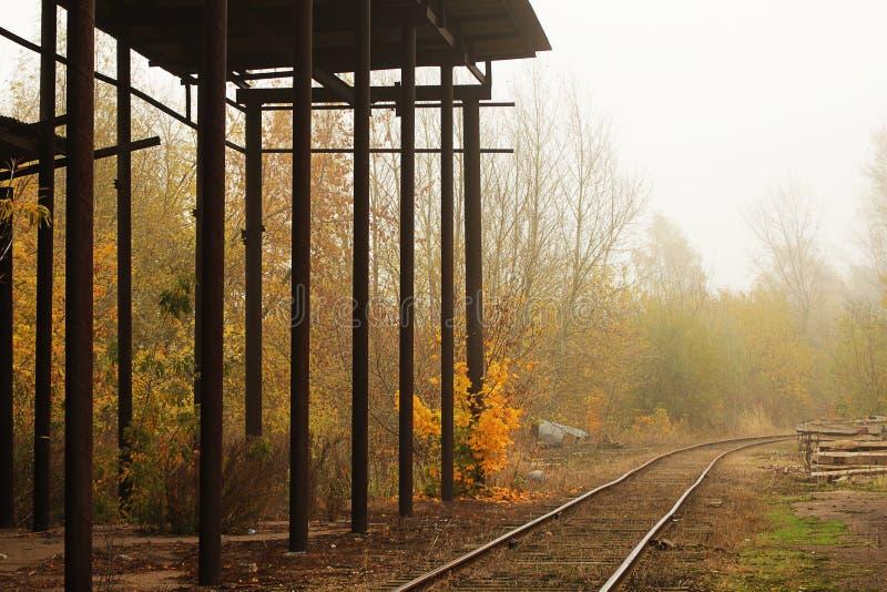 gammal järnväg arkivfoto