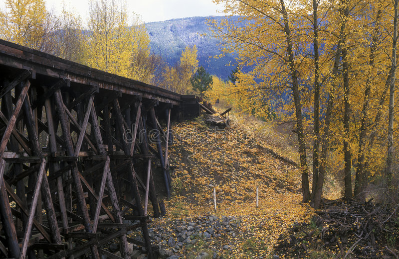 gammal järnvägbock royaltyfri bild