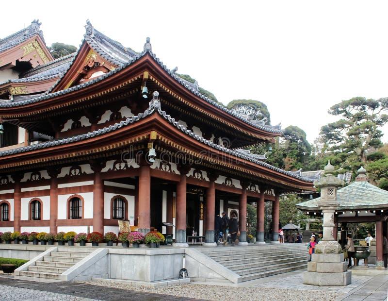 Gammal japansk tempel arkivfoton
