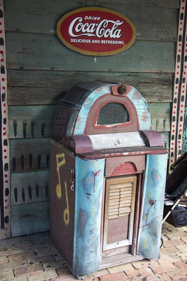 gammal jukebox royaltyfri bild