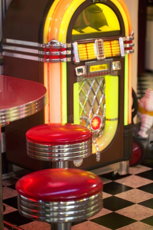 gammal jukebox royaltyfria bilder