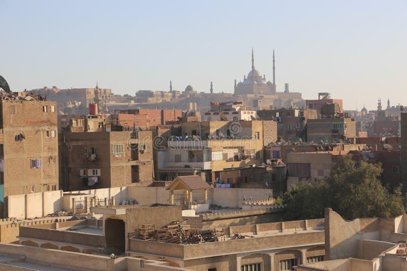 Gammal Kairo för historisk byggnad, Egypten arkivfoton