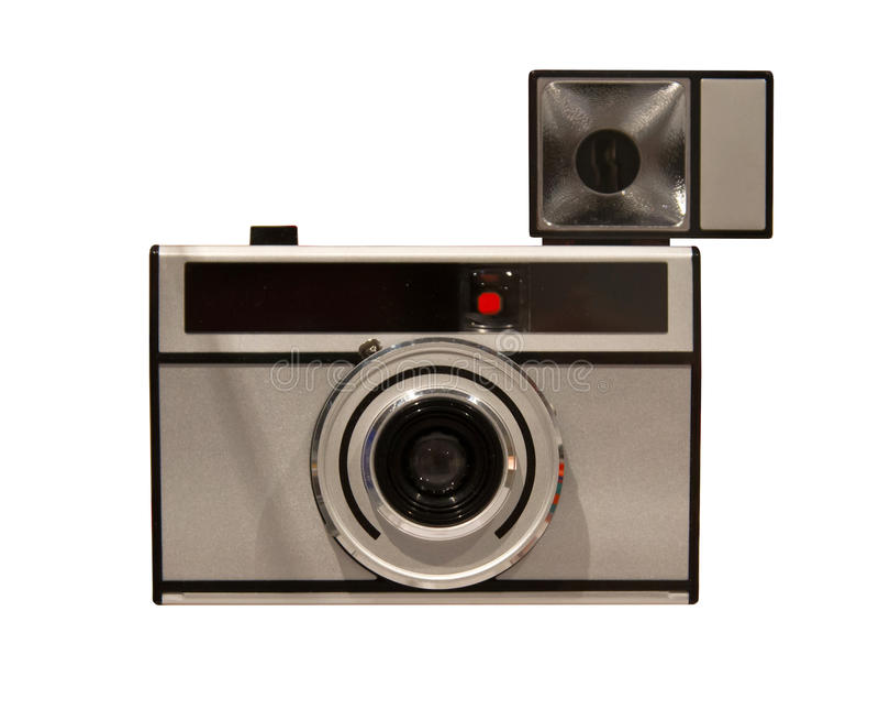 Gammal kamera som isoleras royaltyfri fotografi