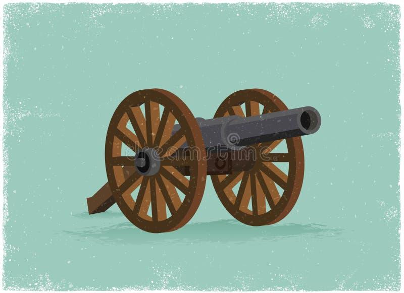 Gammal kanon stock illustrationer