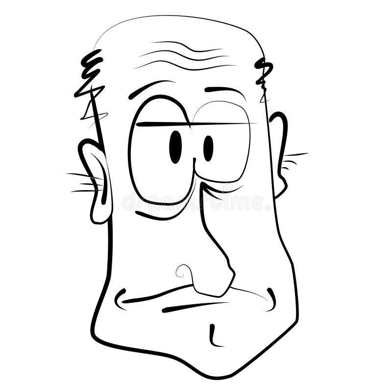 gammal karikatyrtecknad filmman stock illustrationer