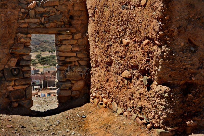 Gammal kasbah i Marocko, Afrika arkivfoto