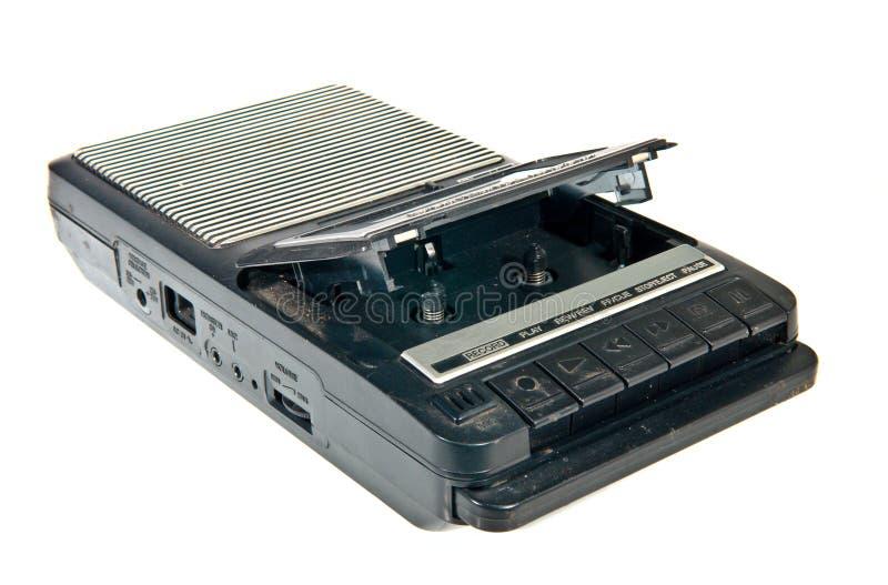 Gammal kassettbandspelare och registreringsapparat royaltyfria foton