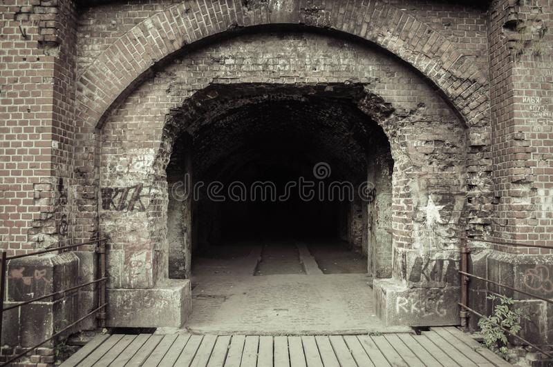 Gammal Kenigsberg slottingång Fort för världskrig II royaltyfria foton