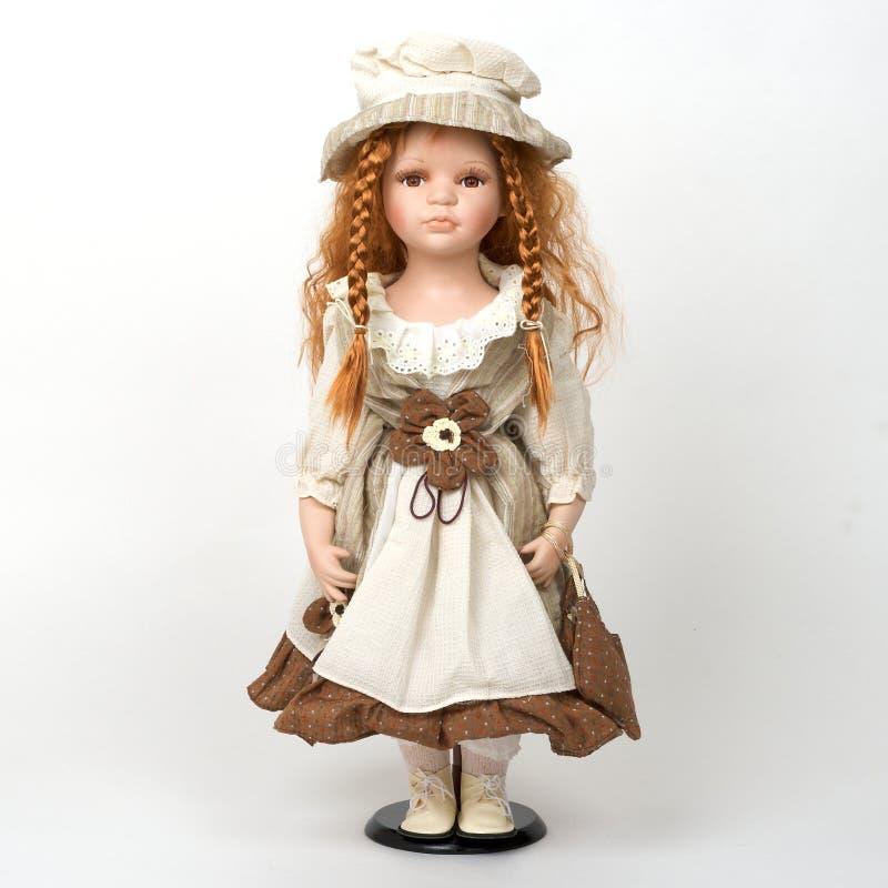 gammal keramisk docka arkivbild