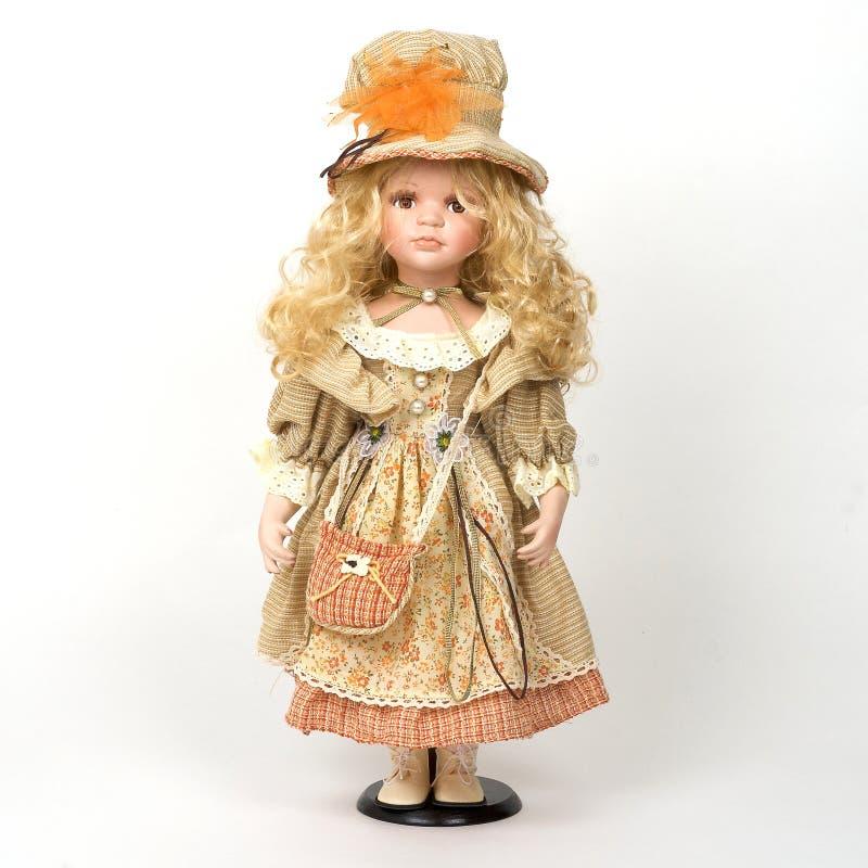 gammal keramisk docka arkivfoto