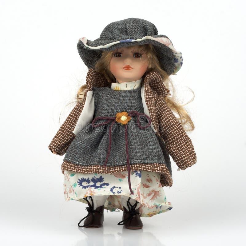 gammal keramisk docka royaltyfri fotografi