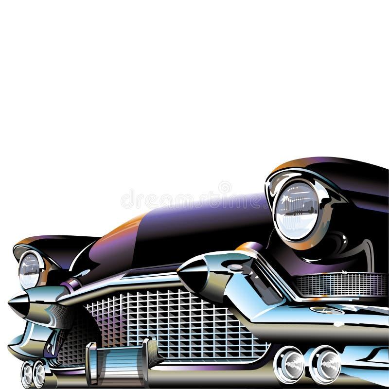 Gammal klassisk bil stock illustrationer